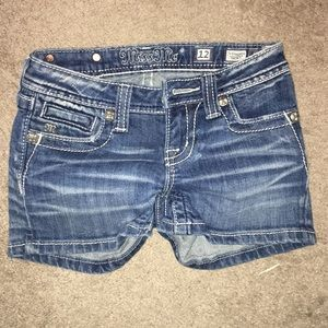 Miss Me jean shorts with pocket bling, size 12